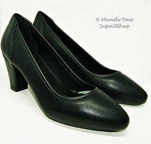 Sapato Salto Preto Napa