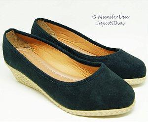 Sapato Anabela Preto