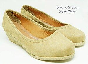 Sapato Anabela Nude