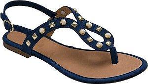 Sandália Rasteira Azul Spike