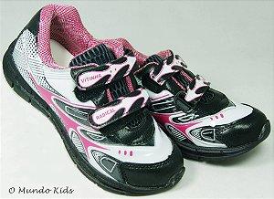 Tênis Infantil Velcro Preto / Pink