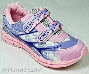Tênis Infantil Velcro Rosa Lilás