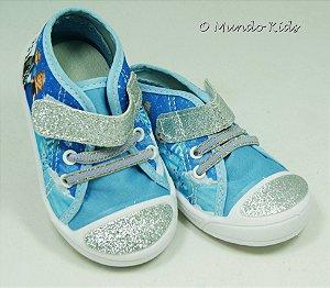 Sandália Baby Azul Florzinha