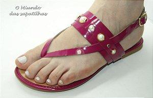 Sandália Rasteira Pink Pérola