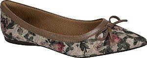 Sapatilha Confort  Bico Fino Floral