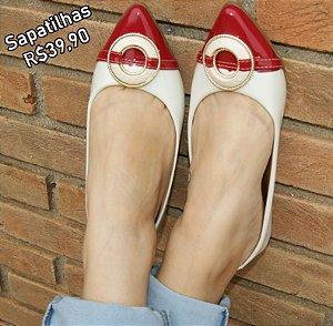 Sapatilha Confort Vermelha/Branca