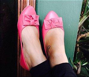 Sapatilha confort rosa