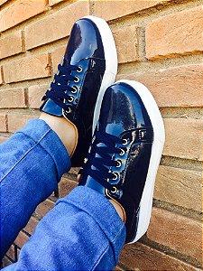 Tenis Azul Marinho Verniz