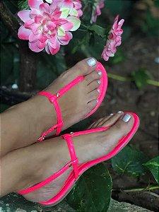 Sandália Pink Neon