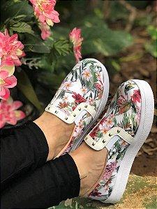 Tênis Slip On Floral Spike