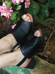 Sandália Luxo Tratorada Preta