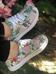 Tênis Sola Alta Floral