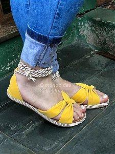 Sandália Corda Amarela de Amarrar