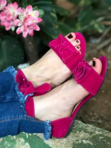 Sandália Rasteira Pink