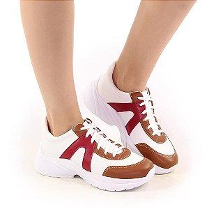 Tênis Fashion Vermelho- caramelo