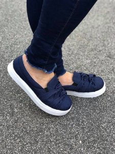 Tênis Slip On Jeans Nó Duplo
