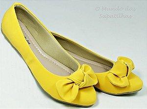 27 - Sapatilha Amarela Laço Nó