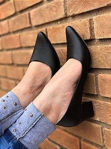 Sapato salto  Preto Liso Fosco