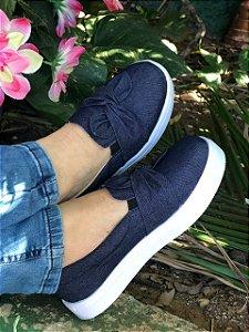 Tênis Slip On INFANTIL Lacinho Jeans