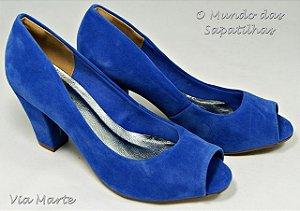 1423 - Sapato Peep Toe Azul