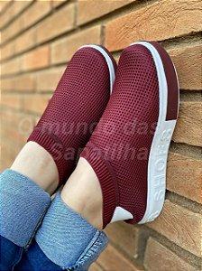 Tênis Meia Shoes Marsala