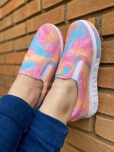 Tênis Slip Tie Dye Shoes
