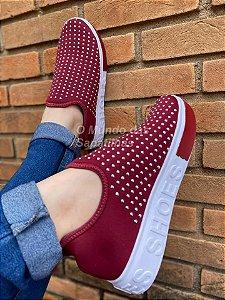 Tênis Meia Bordô Shoes Hotfix
