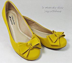 306 - Sapatilha Amarela Laço