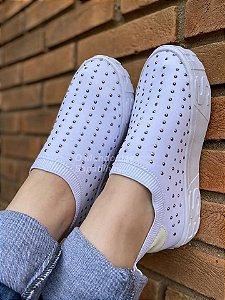 Tênis Meia Shoes Branco Hotfix