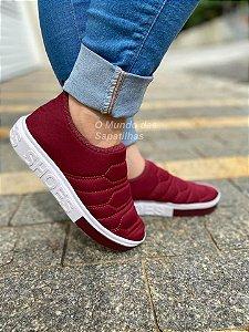 Tênis Meia Shoes Marsala Bordado