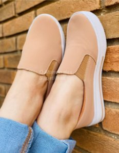 Tênis Slip On Casual Nude