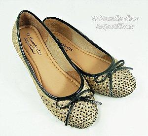 489- sapatilha Lumi Ouro