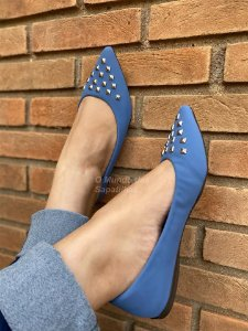 Sapatilha Azul Triângulo Spike