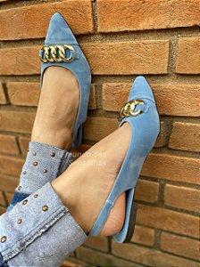 Sapatilha Chanel Corrente Azul Núvem