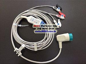 Cabo Paciente de ECG 03 Vias para cardioversor Physio Control Lifepak 20