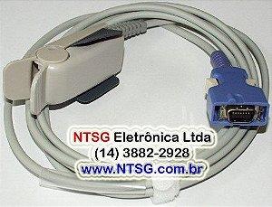Sensor de Oximetria Clip Adulto para monitor Omnimed 612