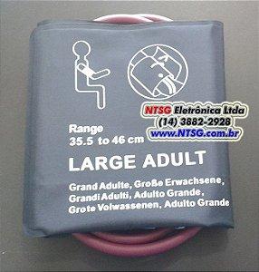Braçadeira de PNI com Manguito 02 Vias Adulto Obeso (Látex-Free)