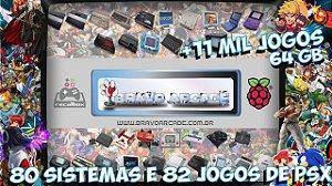 Cartão Micro Sd 64gb Recalbox Raspberry Pi 3 12 Mil Jogos