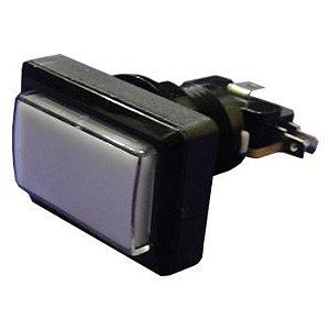 Botão Retangular Fliperama Jukebox Com Micro e led 12v
