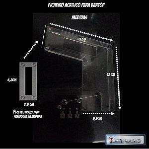 Ficheiro Acrílico Para Bartop Fliperama Arcade Raspberry Pi
