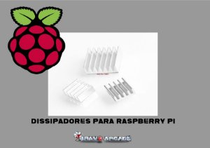 Kit 3 Dissipadores Raspberry Pi 2 Pi2 / Pi 3 Pi3