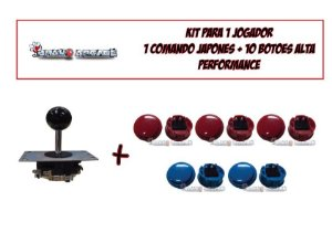 Kit Arcade 01 Player Alta Performance Estilo Sanwa Japones