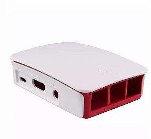 Case Oficial Raspberry Pi3 Branco E Vermelho Pronta Entrega