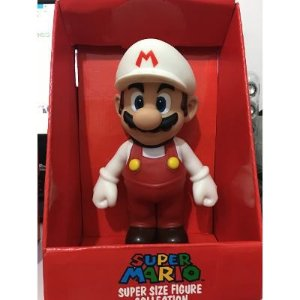 Bonecos Grandes-super Mario Collection- Mario Fire 22 Cm