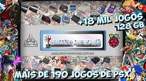 Cartão Micro Sd 128gb Recalbox Raspberry Pi 3 18 Mil Jogos