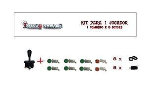 Kit Botões de Acrílico para 1 jogador