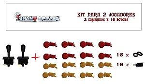 Kit Botões de Nylon para 2 jogadores