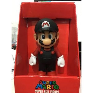 Bonecos Grandes-super Mario Collection- Mario Black 22 Cm