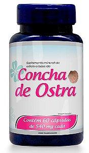 Suplemento Mineral de Cálcio a base de Concha de Ostras em Cápsulas
