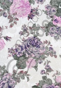 Tecido Jacquard Floral Lilás Estampado 2,80m de Largura
